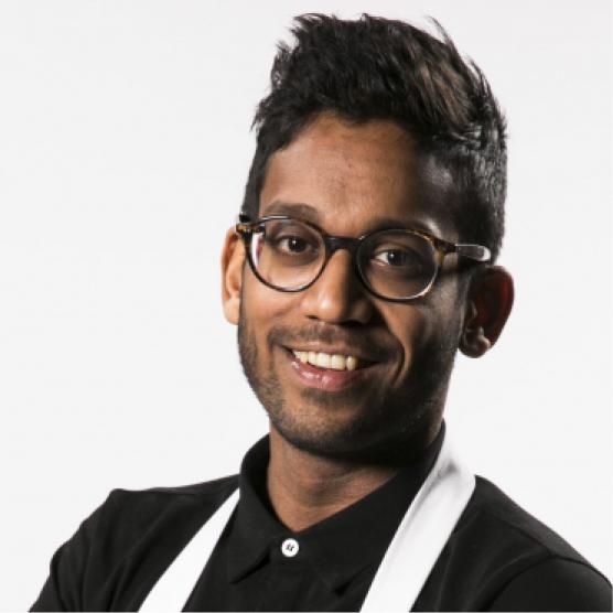 NARESH RAMDJAS Chef, net-geen-MasterChef, trendspotter, vormgever, foodstylist, presentator, moderator en dé rising star in culinair Nederland